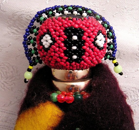 Vintage Ndebele South African Beaded Doll