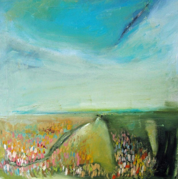 on sale.Landscape, Original oil painting on canvas