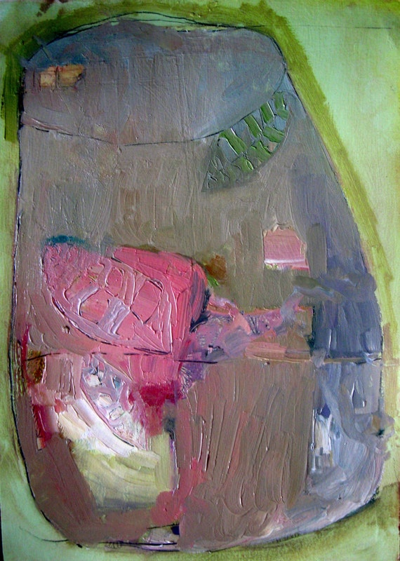 Terrarium, Original oil painting on paper
