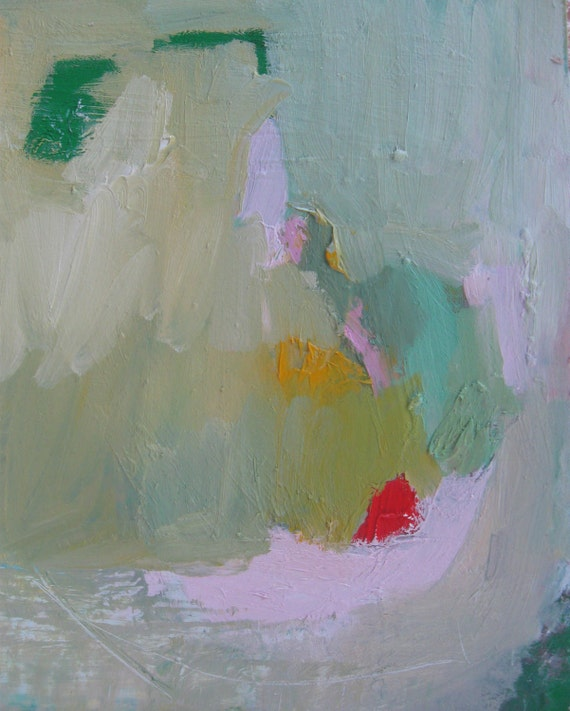 Tiny Abstract, Original oil painting on paper