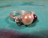 Chroma - Sterling and Two Pearl Ring