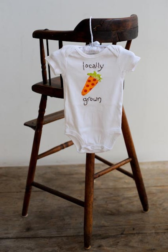 Locally Grown Onesie or Tshirt - Carrot - sizes NB to 5T