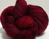 FREE SHIPPING SALE - Bloodlust - Hand dyed Yarn by Twilight Knits Superwash Merino Fingering Weight Sock Hand painted
