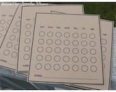 Blank Calendar Cards kraft