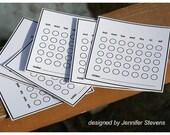 Blank Calendar Cards