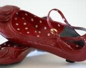 Linea Paolo Red Kitten Heal Shoe size 7m