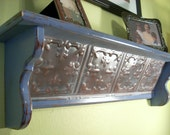 Shabby Periwinkle Wall Shelf