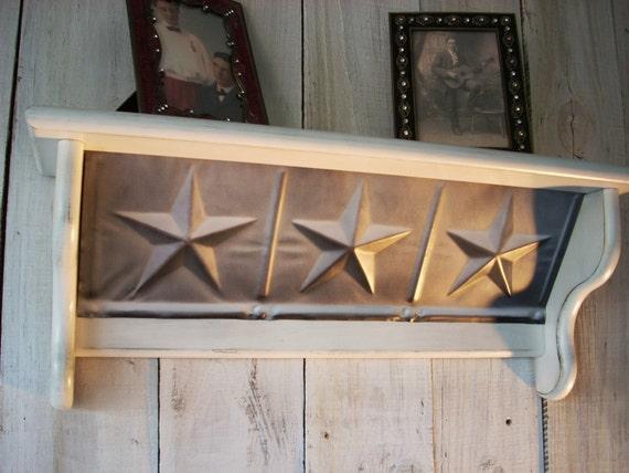 Vintage White Star Shelf