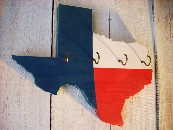 Texas State Wall Decor Key Rack