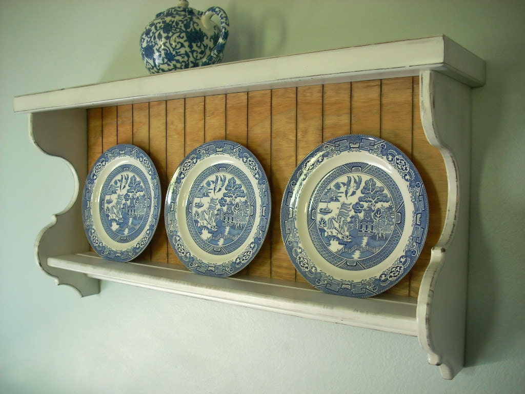 plate display shelf by nottooshabbyshelves on etsy. Black Bedroom Furniture Sets. Home Design Ideas