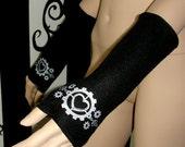 Silver Gears Heart Fleece Arm Warmers MTCoffinz
