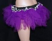 UV Bright Purple Checkerboard Ruffle Trashy TuTu Skirt adult medium MTCoffinz --- ready to ship