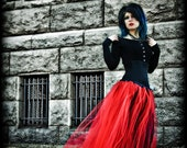 Gothic Red Prom Formal Length Tulle Skirt all sizes MTCoffinz