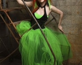 Formal Green with Envy Prom Skirt Choose your size MTCoffinz