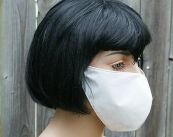 Pure White Shiny PVC Mask MTCoffinz - Ready to Ship - Closeout