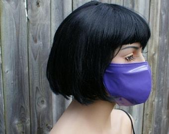 Alien Purple Shiny PVC Mask MTCoffinz - Ready to Ship - Closeout
