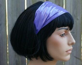 Purple Shiny PVC Headband - Ready to Ship - Closeout