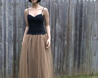Antique Gold SteamPunk Prom Formal Tulle Skirt All Sizes MTCoffinz