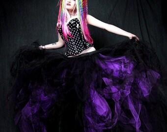 Black and Dark Purple Gothic Formal Wedding Skirt all sizes MTCoffinz