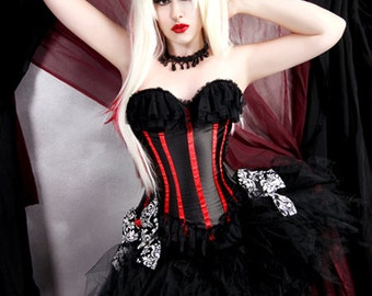Gothic Vixen Black Trashy Formal Bustle TuTu Adult All Sizes MTCoffinz