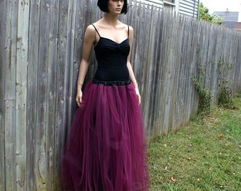 Burgundy Wine Formal Prom Tulle Skirt  ...All Adult Sizes... MTCoffinz