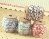 Baker's Twine. . .  60 Yards Total. . . Set of 4 Wooden Spools