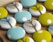 Olive Branches. . . Set of 16 Organic Fabric Push Pins