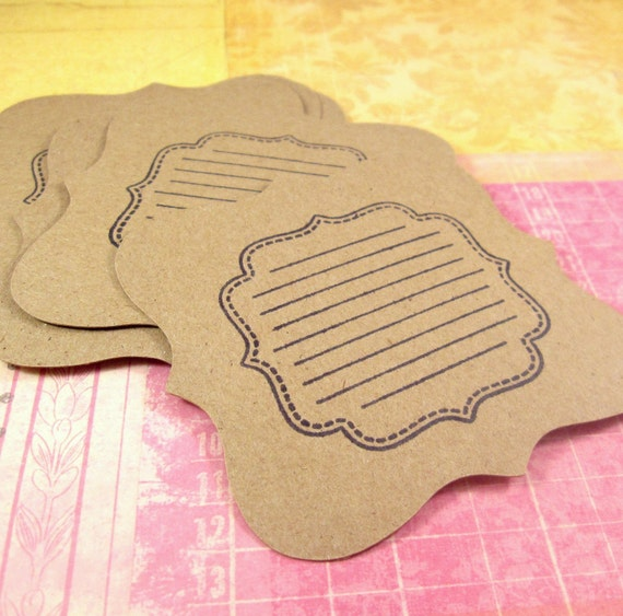 Notable. . . Set of 8 Kraft Journaling Tags