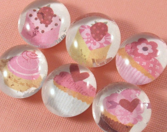 Hey Cupcake. . . Set of 6 Bubble Magnet Party Favors