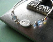 Mom Bracelet - Mother' Day Sterling Silver and Swarovski Crystal Keepsake Gift - CUSTOM Sizing