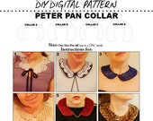 Removable Peter Pan Collar Pattern: DIY Downloadable Pattern from Chic Steals (Individual Usage License)