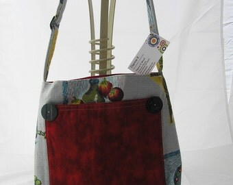 Bag  Shoulder Stunning Vintage Barkcloth  (19)