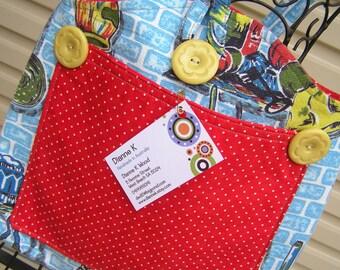 Bag  Vintage Barkcloth Blue Shoulder Bag  (238)