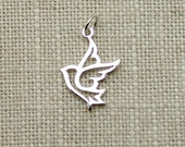 Peace Dove Charm..sterling silver