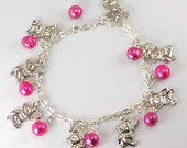 Angel's Bead Expressions - bracelet - charm bracelet 'Teddy Bear Boquet'
