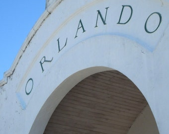 Original Architecture Print * ORLANDO Train Station *  Art by Rodriguez