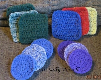 Set of 3 handmade nylon scrubbers