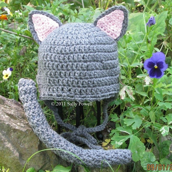 Cat  Hat with  pin-on tail
