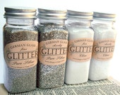 Chunky Pure Silver Glass Glitter  5oz Bottle