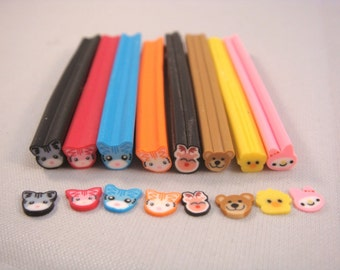 Dollhouse Miniature - Assorted Animal Canes (Choose Your Own Quantity and Style) - SUPPLIES