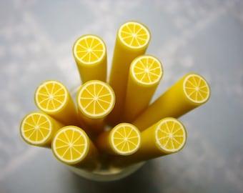 Dollhouse Miniature - Lemon Fruit Cane - SUPPLIES