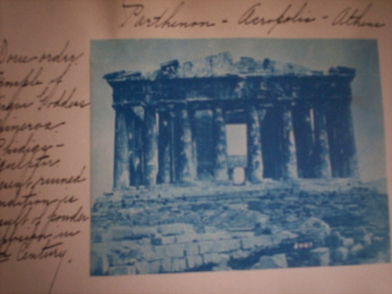 Antique Arts and Architecture Composition Book 1901 Cyanotype