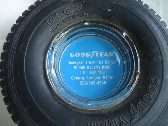 Sale Vintage Goodyear Ashtray from Coburg Oregon