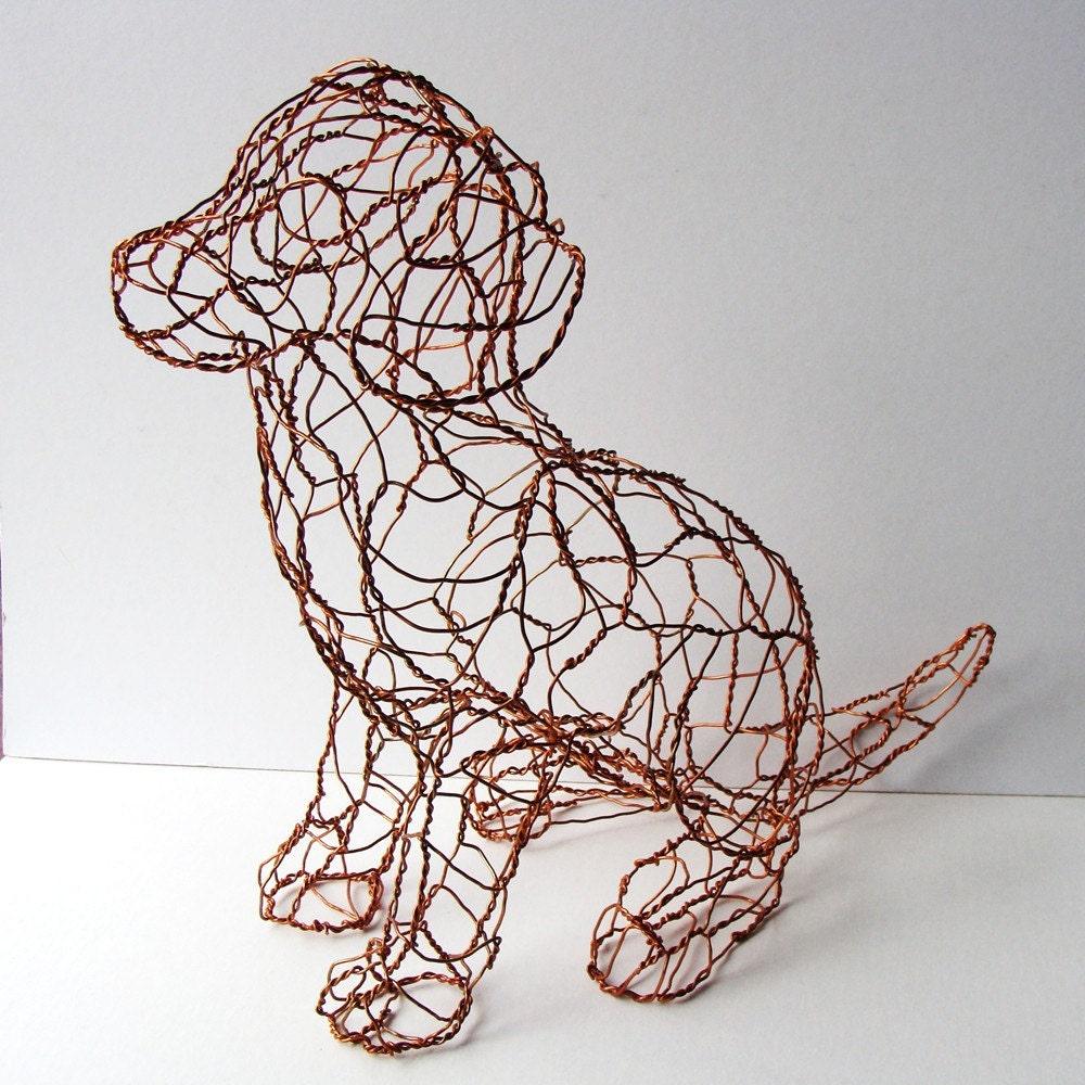 Reserved For Gj Alaska Copper Puppy Wire Sculpture
