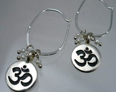 OM pearl earrings