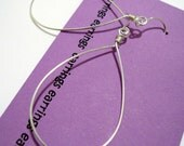 Plain Jane Sterling Silver hoops