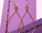 Plain Jane gold hoop earrings