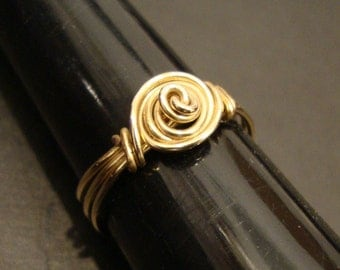 Spiral Infinity Knot 14k Gold filled Ring