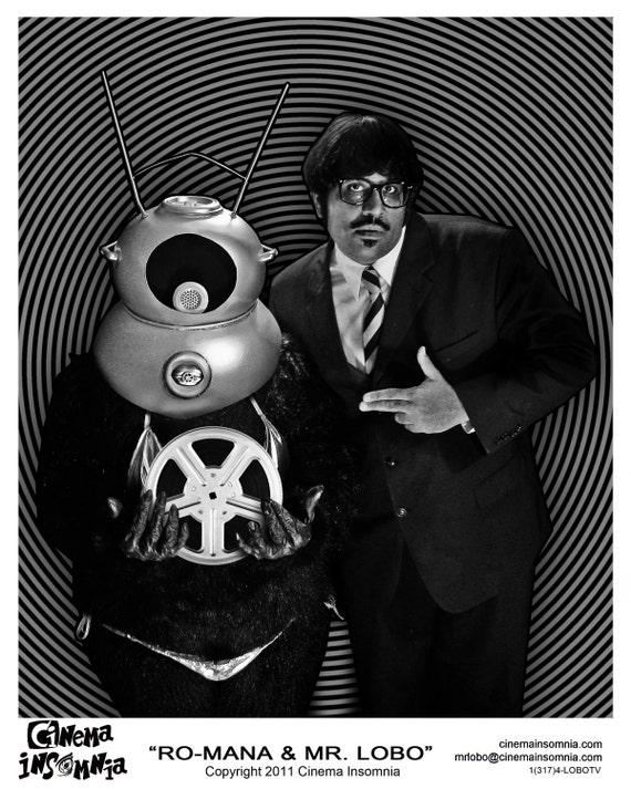 Autographed Cinema Insomnia with Mr. Lobo & Ro-Mana 8x10