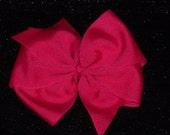 Shocking Pink X-Large Bow
